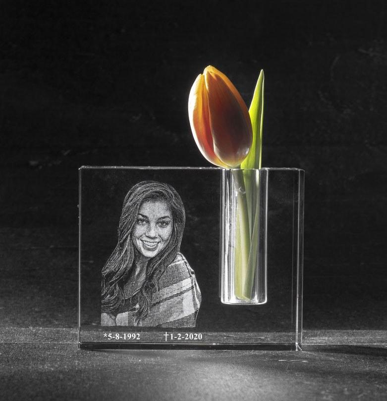 3D Foto in glas - Kirstal urn