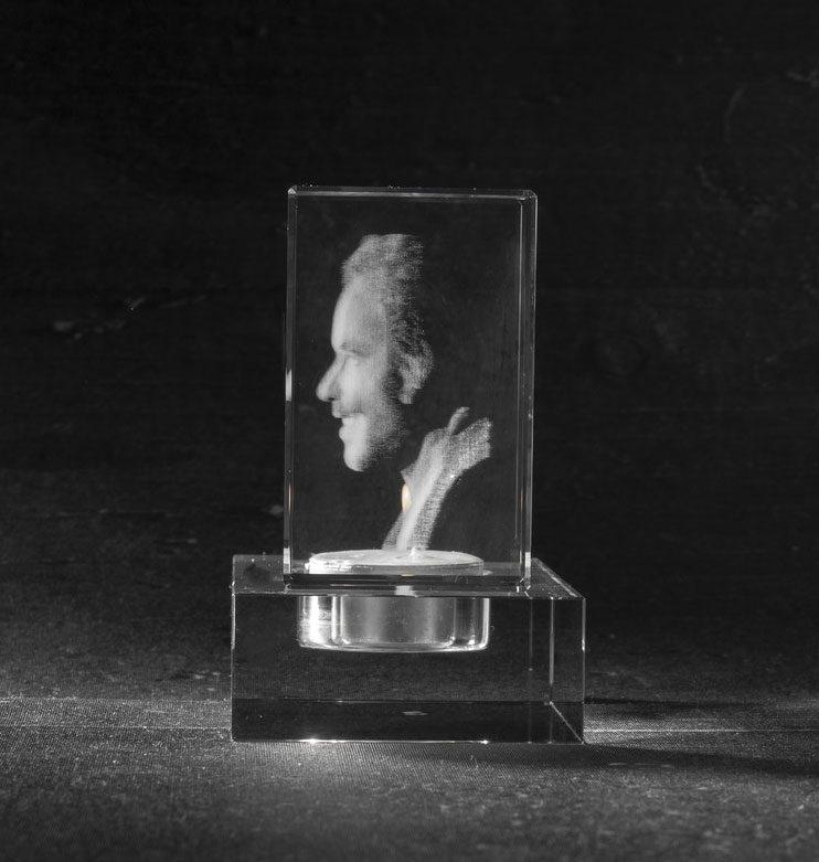 Foto in glas 3 D Waxinehouder Flat