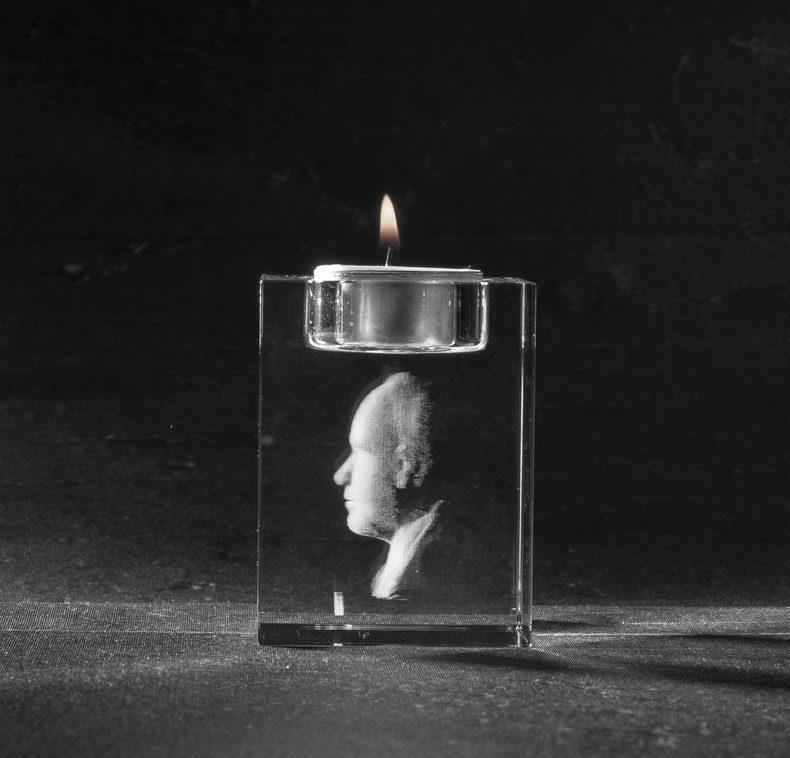 Foto in glas - 3D Kristal Waxinehouder