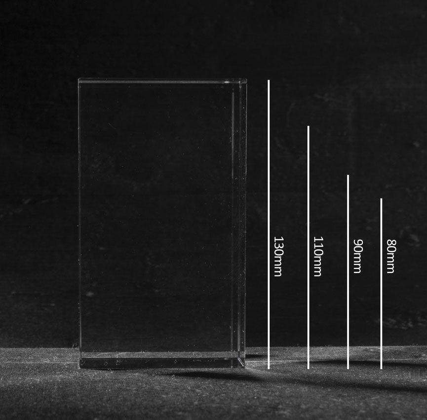 3D Foto in Glas - Kristal Blok met 1 portret