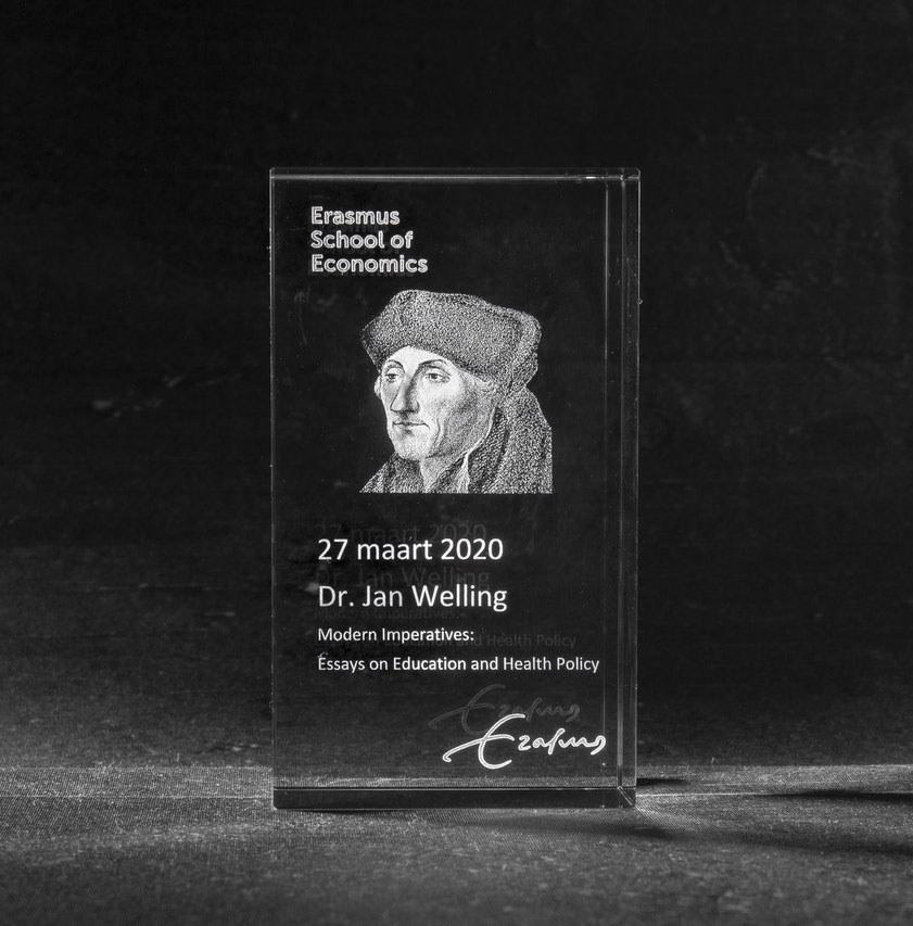 Foto in glas Erasmus Rotterdam Promovendi