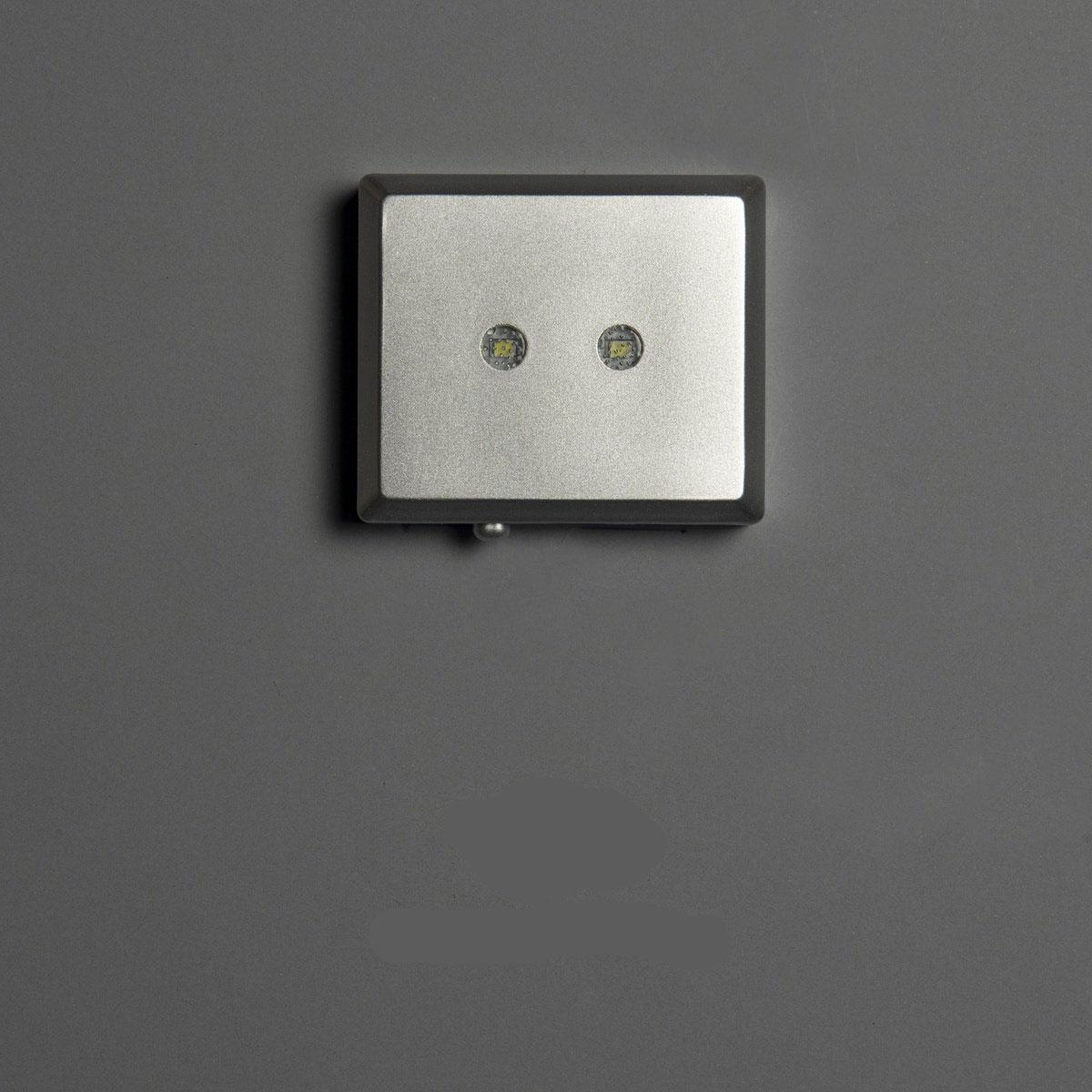 Foto in glas LED opbatterijen 2 lampen