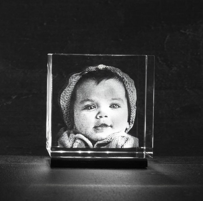 Foto in glas LED verlichting