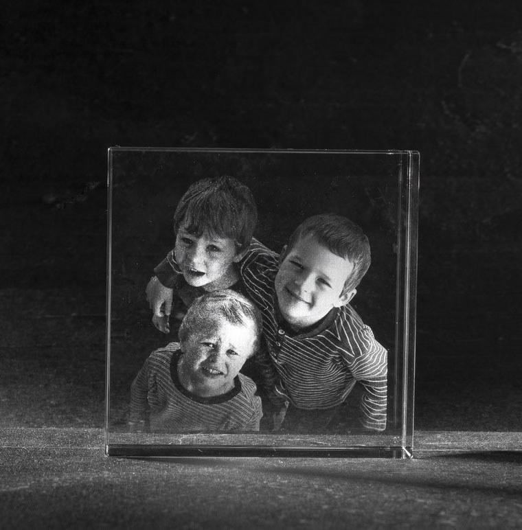 Foto in glas Square