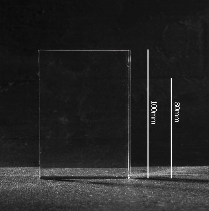 Foto in glas Stone