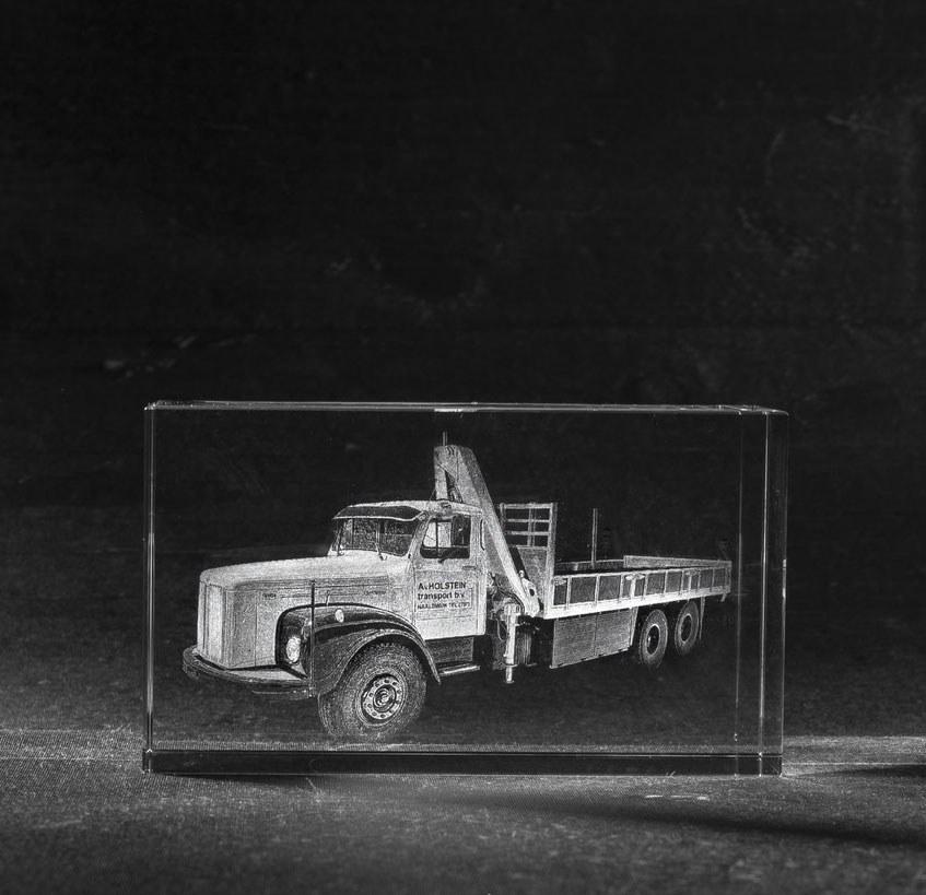 Foto in glas Transportbedrijf Vrachtwagen Oldtimer