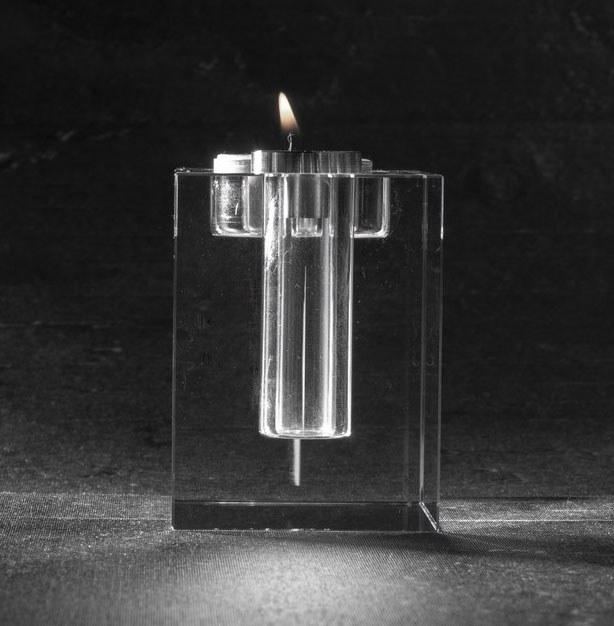 Foto in glas Urn Waxinehouder Bloem