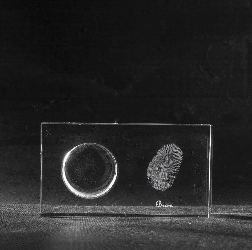 Foto in glas Waxinehouder Flat